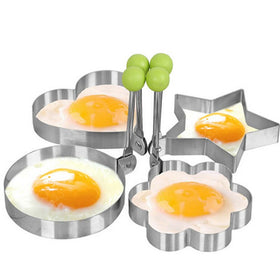 4 Piece Stainless Egg Mold