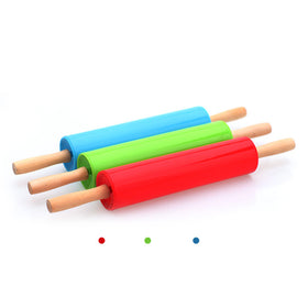 Plastic Cake Fondant Paste Stick Rolling Pin Sugarcraft Baking Tool Mold Decorating Kitchen Tool Hot