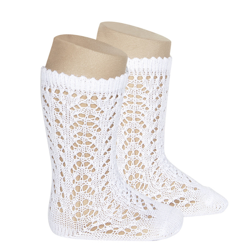 Condor Perle Openwork Knee High Socks
