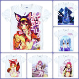 No Game No Life T-Shirts| Men & Women - 6 Designs, B - Anime Print House