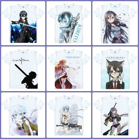 Anime T-Shirt - Sword Art Online - 9 Designs - Anime Print House