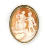 Vintage Shell Cameo Brooch of Knight in Shining Armour - Westmount Montreal Jewellers