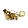 Madeira Citrine Retro Brooch gold and platinum - Montreal westmount jeweller