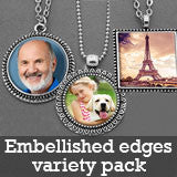 Makes 30 Necklaces Photo Jewelry Embellished Edges Pendants Variety Home Business Kit