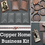30 Pack Copper Photo Jewelry Pendant Variety Home Business Kit #2