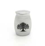 Memorial Funeral  Cremation Ashes Holder Tree Of Life Stainless Steel Urn Vial Jar Container