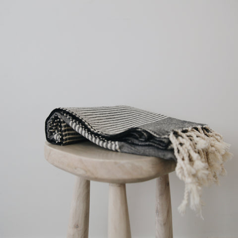 Ash Striped Turkish Towel