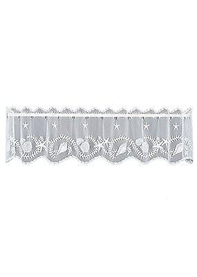 Heritage Lace TIDEPOOL Valance 45x14 White Made in USA