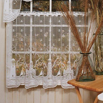 Heritage Lace LIGHTHOUSE Tier 60x36 White Made in USA