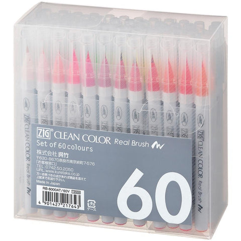 ZIG Markers REAL BRUSH Clean Color 60 pk