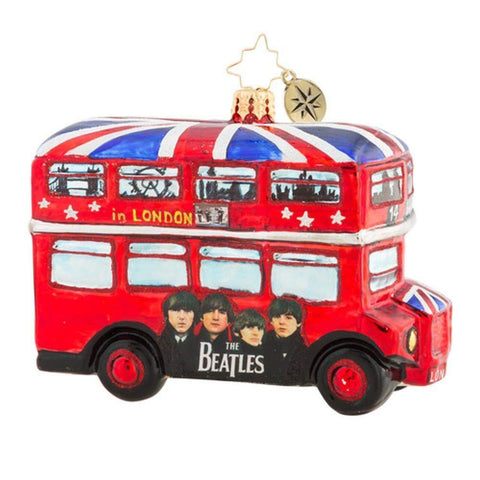 Christopher Radko CHRISTMAS Ornament The Beatles British Invasion 2018, Glass 4""