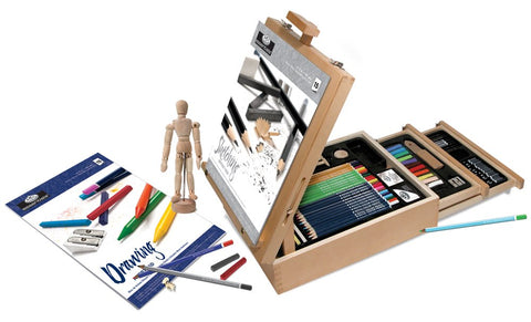 Royal & Langnickel Sketching and Drawing Artist Easel Set 124 Pieces