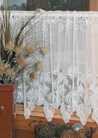 Heritage Lace TIER Woodland 60x30 ECRU Made in USA