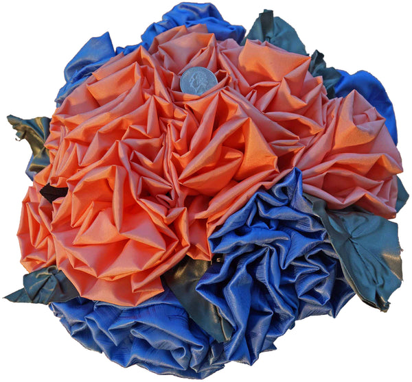 Peach & Blue Rose Bouquet