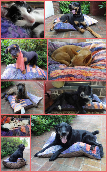 The Dog Ate My Shawl Dog Bed - Dog Beds -  -  Karen Tiede Studio - 4