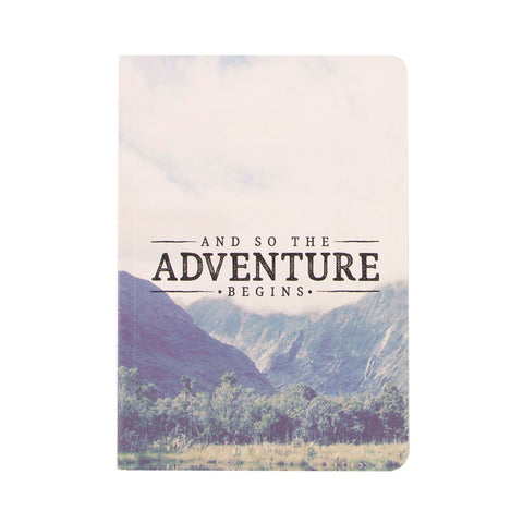 A5 Paperback Notepad - And So The Adventure Begins