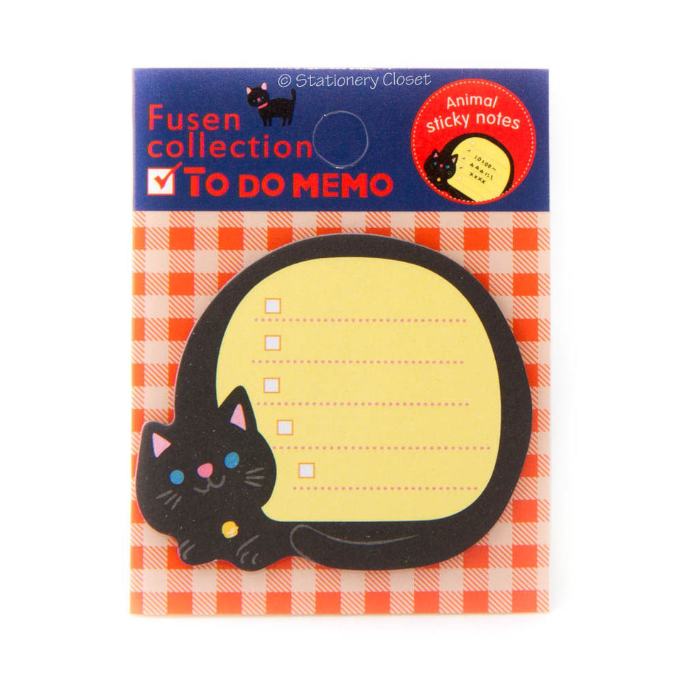 Sticky checklist notes - cat