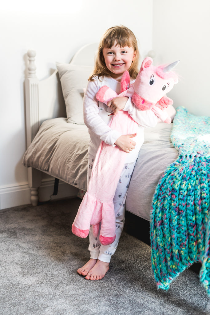 Potwells Designs Long Hot Water Bottle - Unicorn