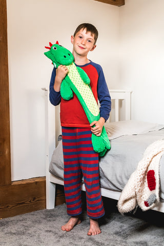 Potwells Designs Long Hot Water Bottle - Dinosaur