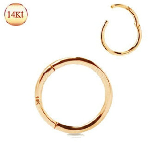 14Kt. Rose Gold Seamless Clicker Ring - Fashion Hut Jewelry