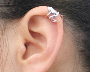 316L Stainless Steel Tree Frog Fake Cartilage Ear Cuff - Fashion Hut Jewelry