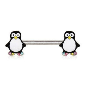 316L Stainless Steel Adorable Penguin Nipple Bar - Fashion Hut Jewelry