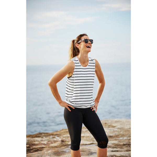 Top Essential Loose tank (navy stripe)