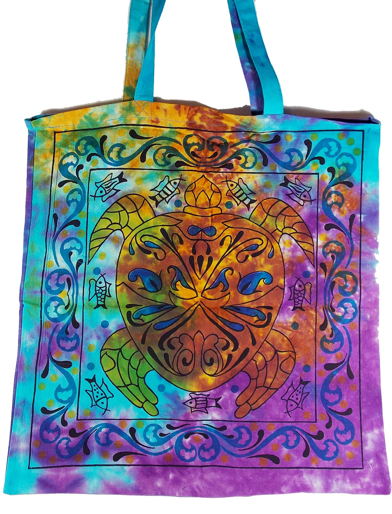 Tie-Dyed Turtle Tote Bag - The Eccentric Muse