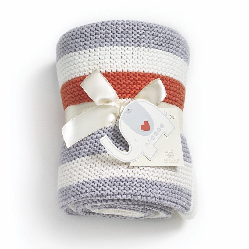 Natures Purest Organic Cotton Knitted Blanket - Lexi & Me