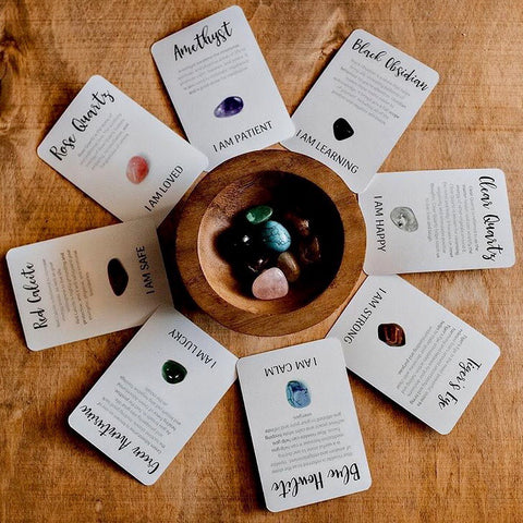 Crystal Affirmations with 8 Cards and Tumble Stones - Lexi & Me