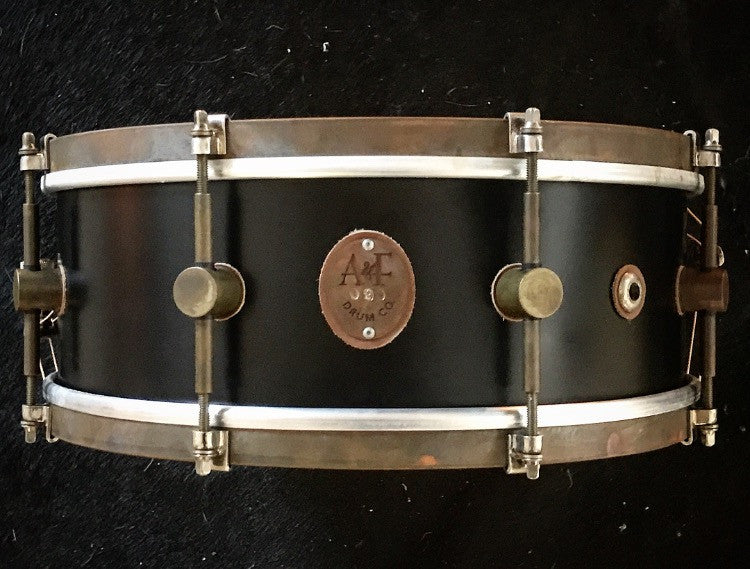 8-Lug Steam Bent Solid Maple Snare in Black Matte Finish