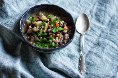 Black Bean and Buckwheat Soup