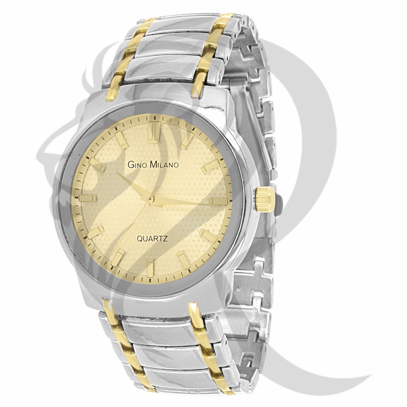 41MM Yellow Dial Two-Tone Plain Watch