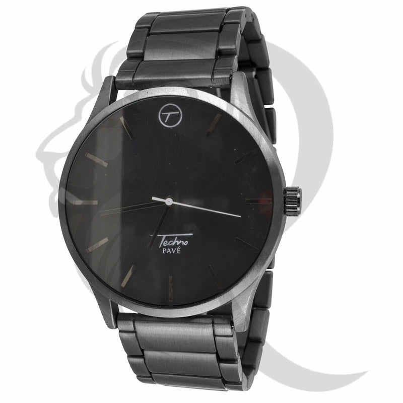 Plain All Black 45MM Techno Pave Watch