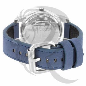 Blue Leather Band 45MM White Dial Watch