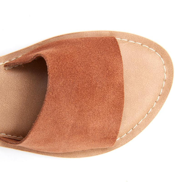 Tan Cabana Suede Slide Sandals by Matisse Coconuts Collection