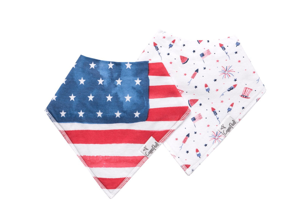 Copper Pearl - Patriot Baby Bandana Bib Set