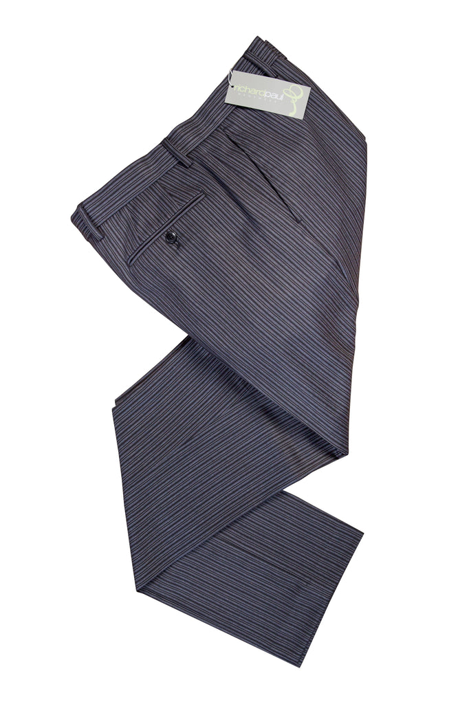 Black And Grey Stripe Morning Pinstripe Trousers for Royal Ascot Masonic Wear
