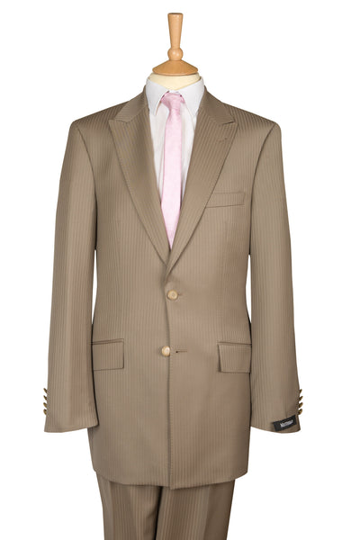 beige brown lightweight luxury mens suit formal