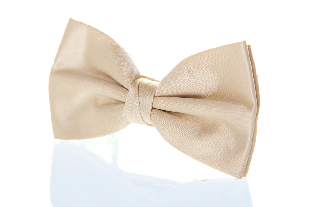 gold bow tie satin burns night formal wedding