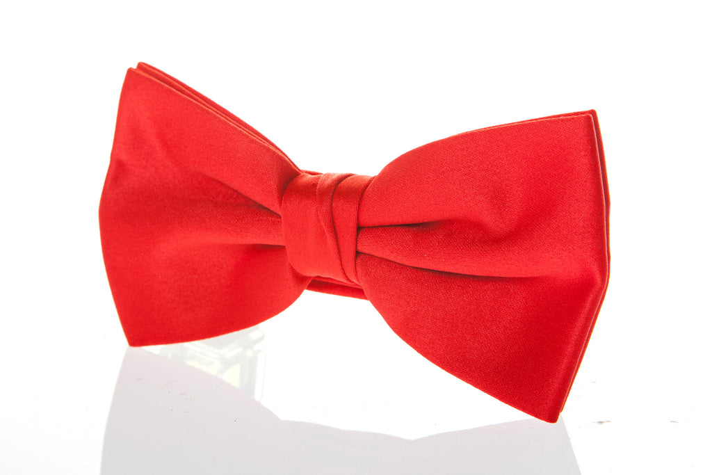 bright red ready tied bow tie