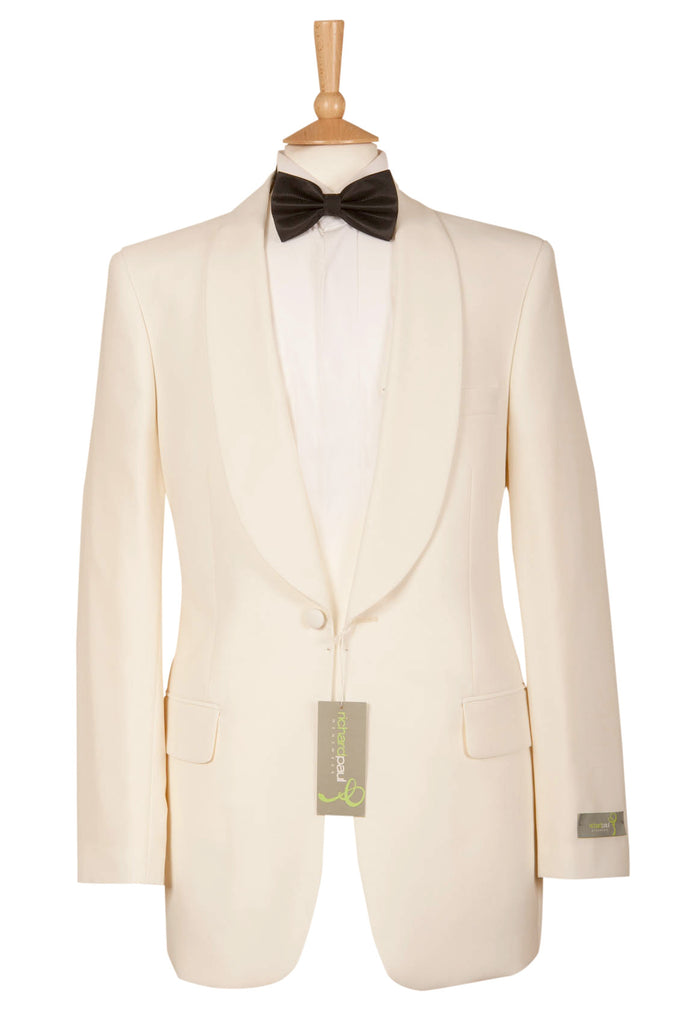 white ivory mens tux tuxedo jacket formal event bond wedding