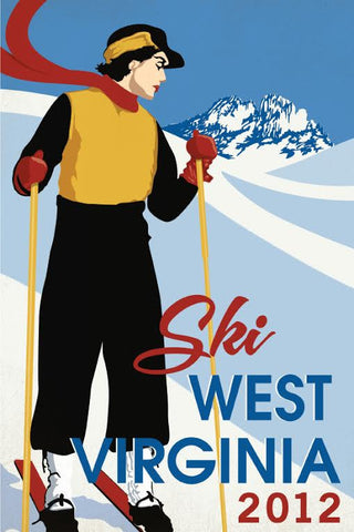 Limited Edition WV Ski Poster 2012