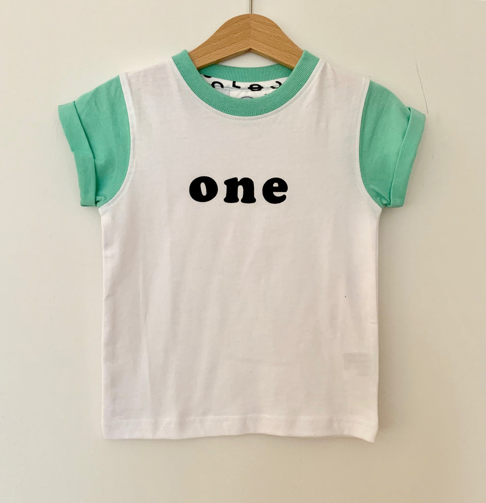 Age T-Shirt White with Mint Sleeve