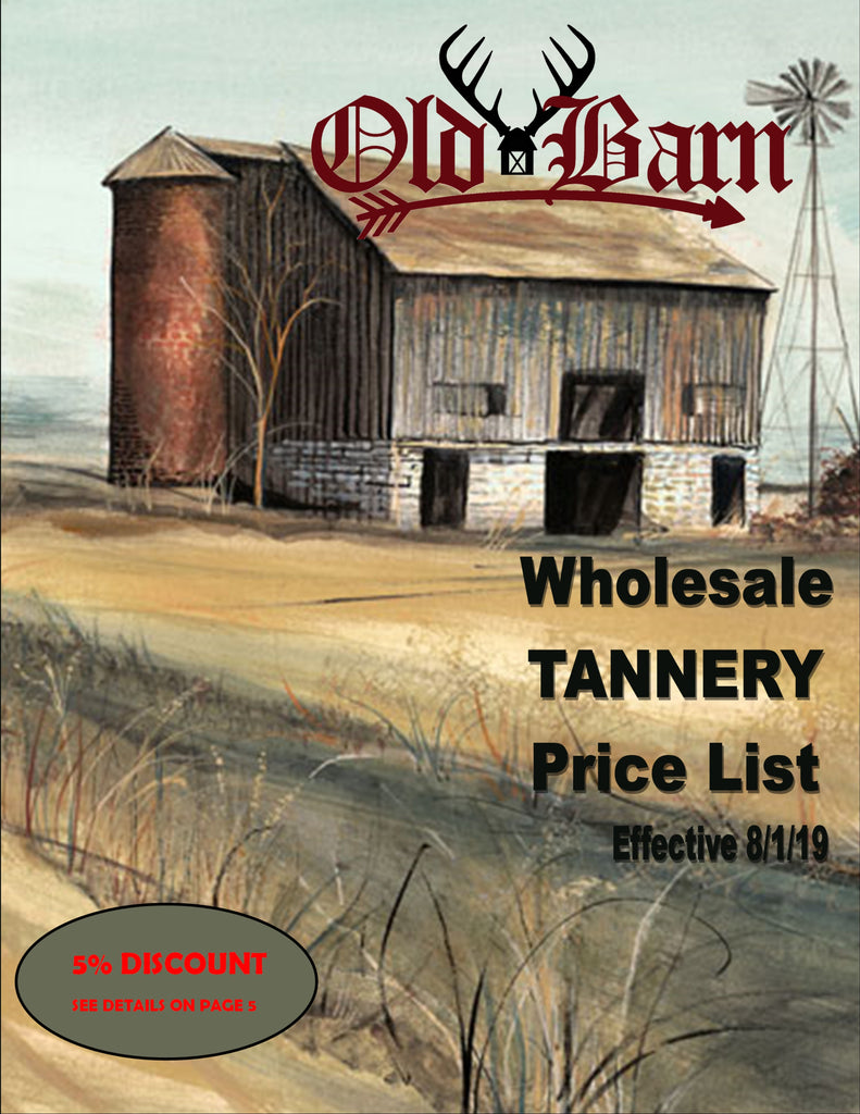 Old Barn Tannery Price List 2020 - Cover Page