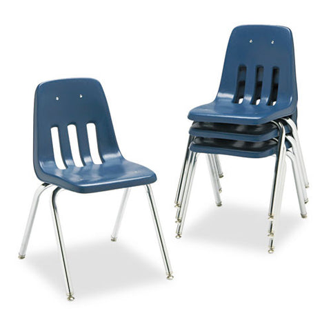Virco 9000 Series Classroom Stacking Chairs VIR901851, Blue (UPC:646231374734)