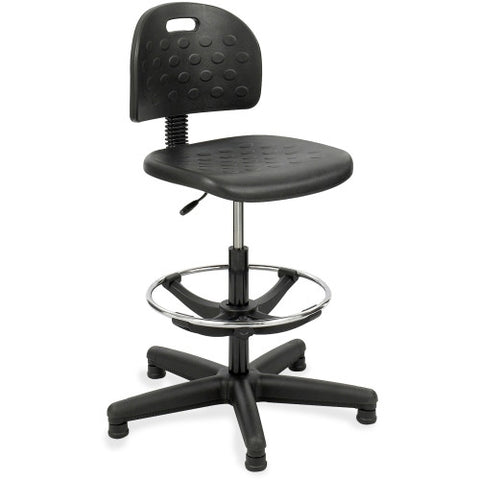 Safco Soft Tough Economy Workbench Drafting Chair SAF6680, Black (UPC:073555668001)