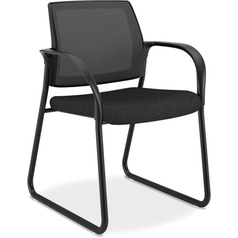 HON Ignition Mesh Back Multi-Purpose Guest Chair ; Color: Black; UPC: 881728509408
