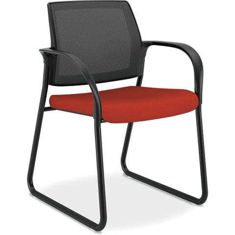 HON Ignition Mesh Back Multi-Purpose Guest Chair ; Color: Poppy; UPC: 881728509149
