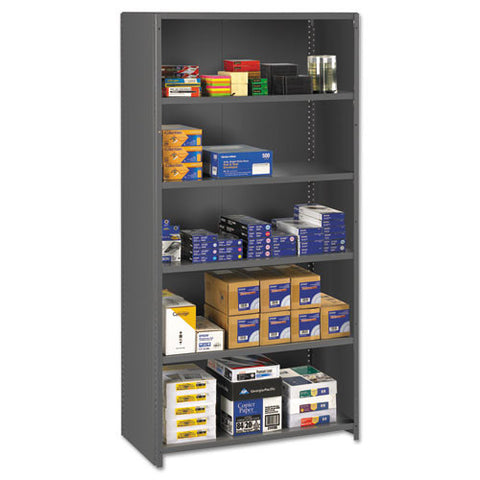 "Tennsco 75"" High Commercial Steel Shelving TNNESPC62436MGY,  (UPC:044767130365)"